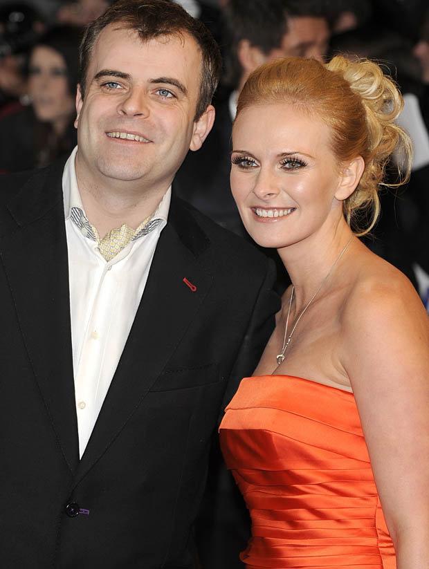 Simon Gregson and his wife