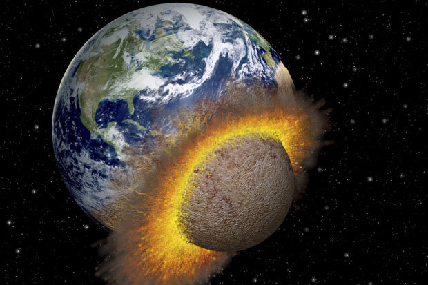 Image result for planet crashes into earth