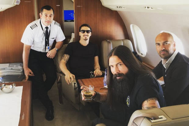 Image result for zlatan ibrahimovic private jet